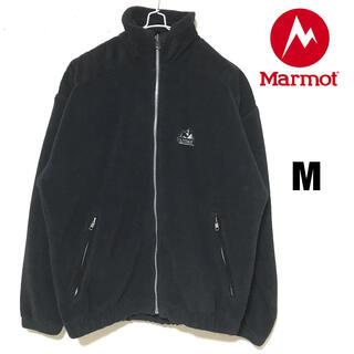 マーモット(MARMOT)の美品 マーモットジップアップ フリース ブルゾン ボアジャケット 黒 USA製(ブルゾン)