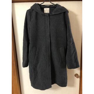 スタディオクリップ(STUDIO CLIP)のコート フード付き チャコールグレー(ロングコート)