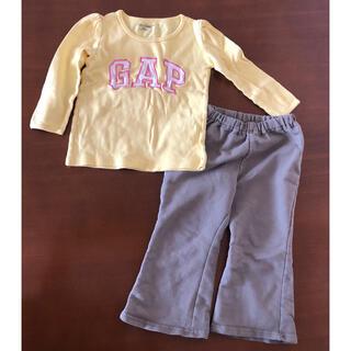 ベビーギャップ(babyGAP)のベビーギャップ 長袖 長ズボン 女の子 上下セット 90(Tシャツ/カットソー)