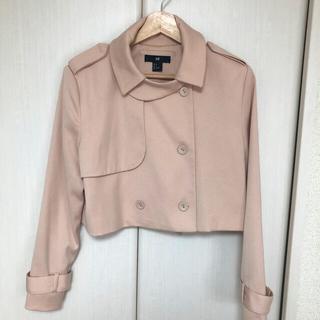エイチアンドエム(H&M)の【美品】H&M ショートトレンチ ピンク(トレンチコート)