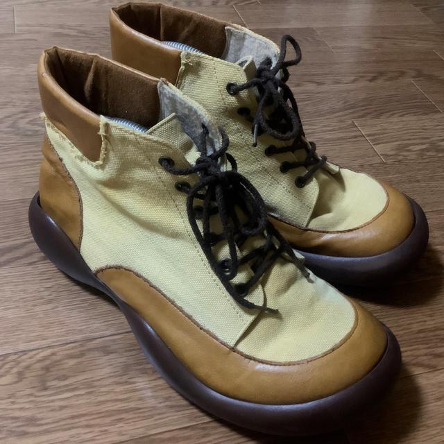 Regetta Canoe(リゲッタカヌー)のRegetta Canoe キャンバスツートンブーツ メンズの靴/シューズ(ブーツ)の商品写真