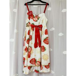 アンジェリックプリティー(Angelic Pretty)のいちごジャンパースカート(ひざ丈スカート)