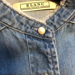 ブランバスク(blanc basque)のブランバスク・パールボタンシャツ(週末お値下げ)(シャツ/ブラウス(長袖/七分))