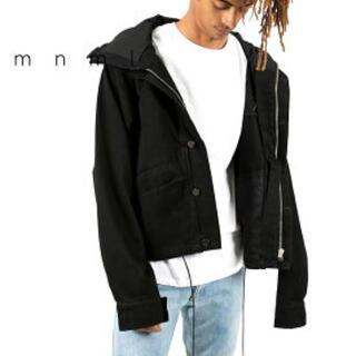 mnml フーディーデニムジャケット