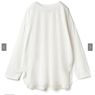 グレイル(GRL)のグレイル サイドスリットロンT オフホワイト(Tシャツ/カットソー(七分/長袖))