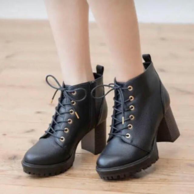 heather(ヘザー)の【最終値下げ】ヘザー  ブーツ 黒 レディースの靴/シューズ(ブーティ)の商品写真