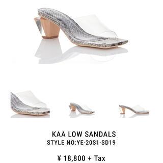 イエローブーツ(Yellow boots)のKAA LOW SANDALS  Lサイズ(ハイヒール/パンプス)