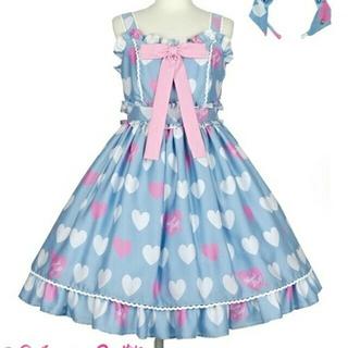 アンジェリックプリティー(Angelic Pretty)の新品・未使用 Dolly Heart SpecialジャンパースカートSet(ひざ丈ワンピース)