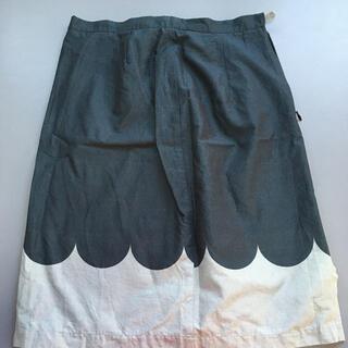 マリメッコ(marimekko)のランケッティ グレー スカート(ひざ丈スカート)