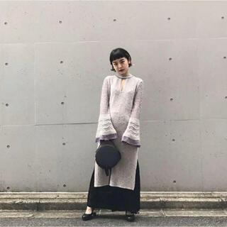 マメ(mame)のmame kurogouchi 17aw ニットワンピース(ひざ丈ワンピース)