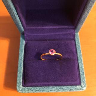 ドゥロワー(Drawer)のマリーエレーヌドゥタイヤック ピンクサファイヤ プリンセスリング(リング(指輪))