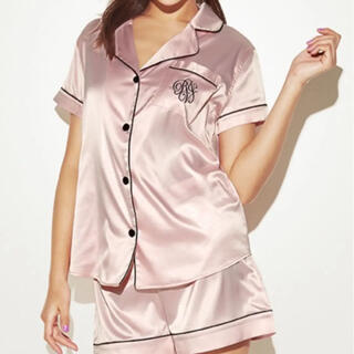 Ravijour - Ravijour オールデイサテン半袖パジャマ サテン巾着付き
