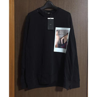 マルタンマルジェラ(Maison Martin Margiela)の黒S新品 N°21 フォト ロゴ スウェット シャツ ヌメロ メンズ ブラック(スウェット)