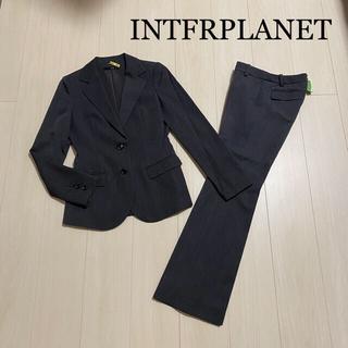インタープラネット(INTERPLANET)のINTFRPLANET グレー パンツスーツ(スーツ)