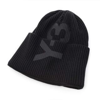 ワイスリー(Y-3)のmako様専用 Y-3 ロゴプリント リブニットキャップ ブラック(ニット帽/ビーニー)