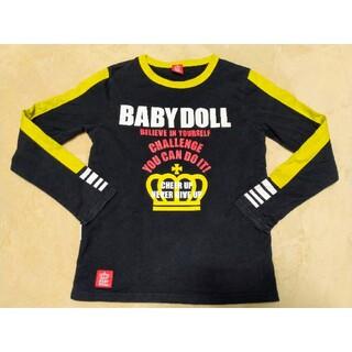 ベビードール(BABYDOLL)のベビードール 長袖Tシャツ レディース S 黒×黄色(Tシャツ(長袖/七分))