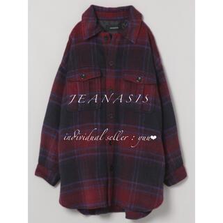 ジーナシス(JEANASIS)のJEANASIS シャギーBIGシャツコート CPO チェック ロング(チェスターコート)