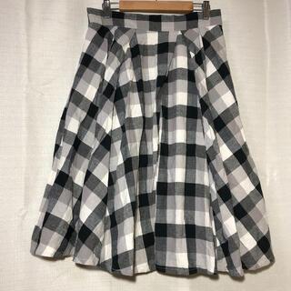 バックナンバー(BACK NUMBER)のレディース チェックスカート Lサイズ(ひざ丈スカート)