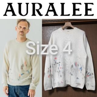 新品■20AW AURALEE ペインテッドニット 4 ハンドペイント セーター(ニット/セーター)