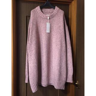 マルタンマルジェラ(Maison Martin Margiela)のL新品 メゾン マルジェラ オーバーサイズ ロング ニット セーター ピンク(ニット/セーター)