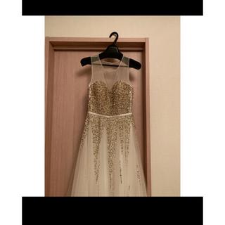 エンジェルアール(AngelR)のエルケイ ゴールドビジューロングドレス キャバ嬢(ナイトドレス)