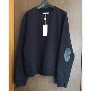 マルタンマルジェラ(Maison Martin Margiela)の黒50新品 メゾン マルジェラ エルボーパッチ スウェット  ブラック 20SS(スウェット)