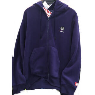 マーベル(MARVEL)の新品 紫 ヴェノム フリース marvel  パーカー メンズ 上着 チャック(パーカー)