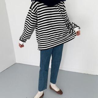 ロキエ(Lochie)のstraight denim pants L size(デニム/ジーンズ)