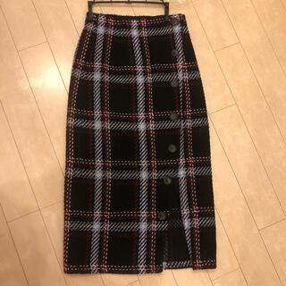 ムルーア(MURUA)のムルーア MURUA スカート チェック タイト(ひざ丈スカート)