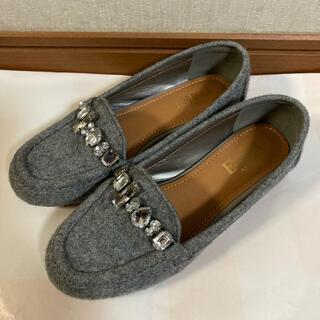 エスペランサ(ESPERANZA)のエスペランサ esperanza ローファー パンプス グレー モカシン S(ローファー/革靴)