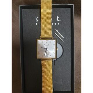 ノットノット(Knot/not)のノット 腕時計 イエローゴールド スクエア(腕時計)