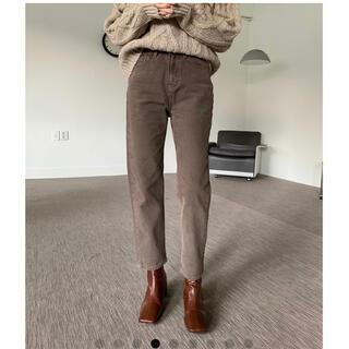ロキエ(Lochie)のmona napping cotton pants (beige/L size)(カジュアルパンツ)