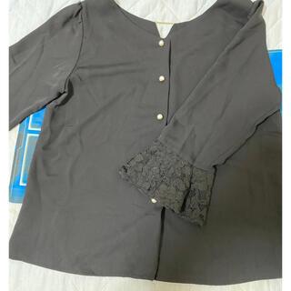 ミッシュマッシュ(MISCH MASCH)のミッシュマッシュ 黒 五分袖トップス サイズM(シャツ/ブラウス(長袖/七分))