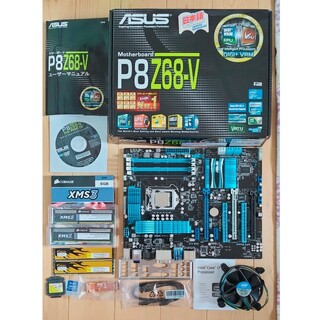 エイスース(ASUS)のCOREi7-2600K+ASUS P8Z68V+メモリセット(PCパーツ)