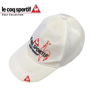 ルコックスポルティフ(le coq sportif)のle coq sportif ゴルフキャップ 帽子 メンズ メッシュ ホワイト(その他)