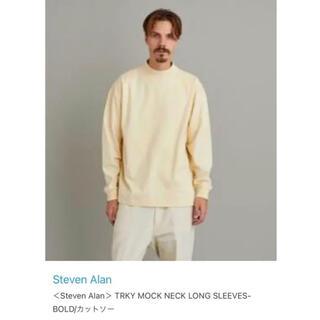スティーブンアラン(steven alan)の〈Steven Alan〉MOCK NECK LONG SLEEVES BOLD(Tシャツ/カットソー(七分/長袖))