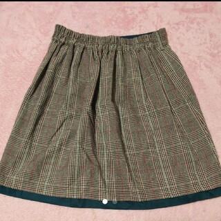 チェック柄2wayスカート(*´-`*)(ひざ丈スカート)