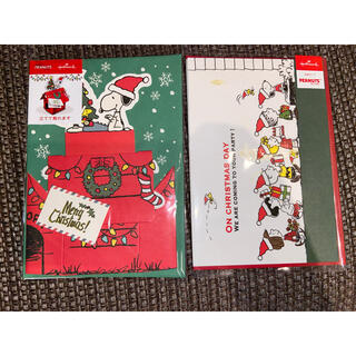 スヌーピー(SNOOPY)のスヌーピー クリスマス 立体カード 2点セット(カード/レター/ラッピング)