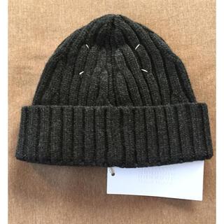 マルタンマルジェラ(Maison Martin Margiela)のM新品 メゾン マルジェラ リブ ニットキャップ ニット帽 メンズ ビーニー(ニット/セーター)