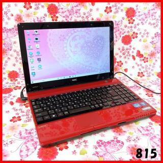 エヌイーシー(NEC)の小型ノートパソコン♪Corei7♪新品SSD♪オフィス♪Windows10(ノートPC)