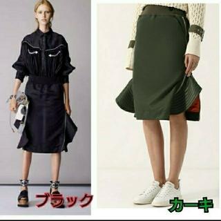 サカイ(sacai)のnaam様専用 sacai 18aw  サイドジップ ペプラム スカート ma1(ひざ丈スカート)