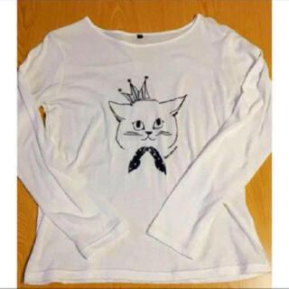 サンタモニカ(Santa Monica)の古着 Tシャツ 猫 長袖 Tシャツ 長袖 tシャツ 猫 tシャツ ロンT(カットソー(長袖/七分))