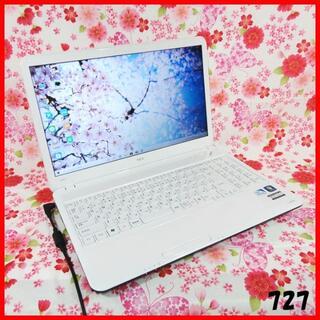 エヌイーシー(NEC)の人気のホワイト♪Corei5♪新品SSD♪オフィス♪Windows10(ノートPC)