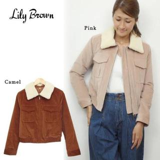 リリーブラウン(Lily Brown)のLilyBrown コーデュロイ中綿ブルゾン(ブルゾン)