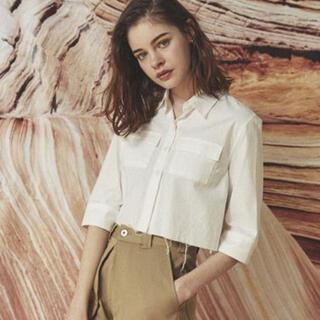 アリシアスタン(ALEXIA STAM)のjuemi Cut-off Short Chambray Shirt(シャツ/ブラウス(長袖/七分))