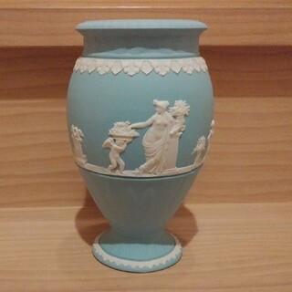 ウェッジウッド(WEDGWOOD)のウェッジウッド ジャスパー ターコイズ 花瓶(花瓶)