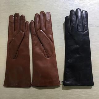 セオリー(theory)の新品 theory  19AW ラムレザー スマホ対応手袋 グローブ カシミヤ(手袋)