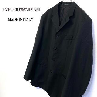 エンポリオアルマーニ(Emporio Armani)の美品 イタリー製 EMPORIO ARMANI テーラードジャケット メンズL(テーラードジャケット)