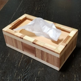 木 ティッシュ ケース 箱無し(ティッシュボックス)