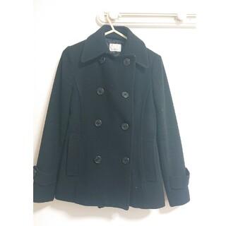 エゴイスト(EGOIST)のEGOIST コート 黒 冬物(ピーコート)